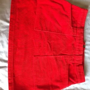 Forever 21 Bright Red corduroy mini